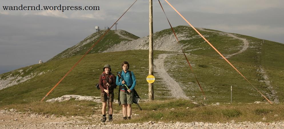 Volldeppenfoto mit Gipfelblick
