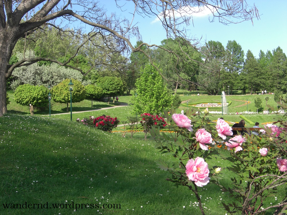 Kurpark Oberlaa Anfang Mai