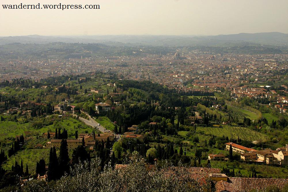 Blick von Fiesole über Florenz