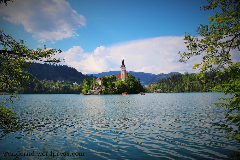 Der berühmte See in Bled