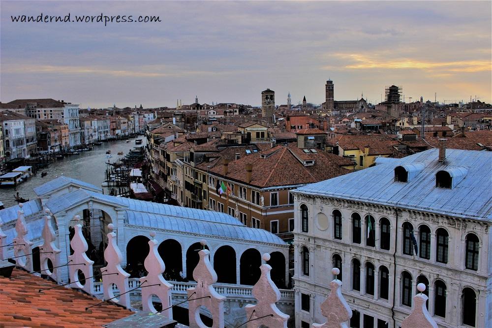 Ausblick vom Fondaco dei Tedeschi Venedig