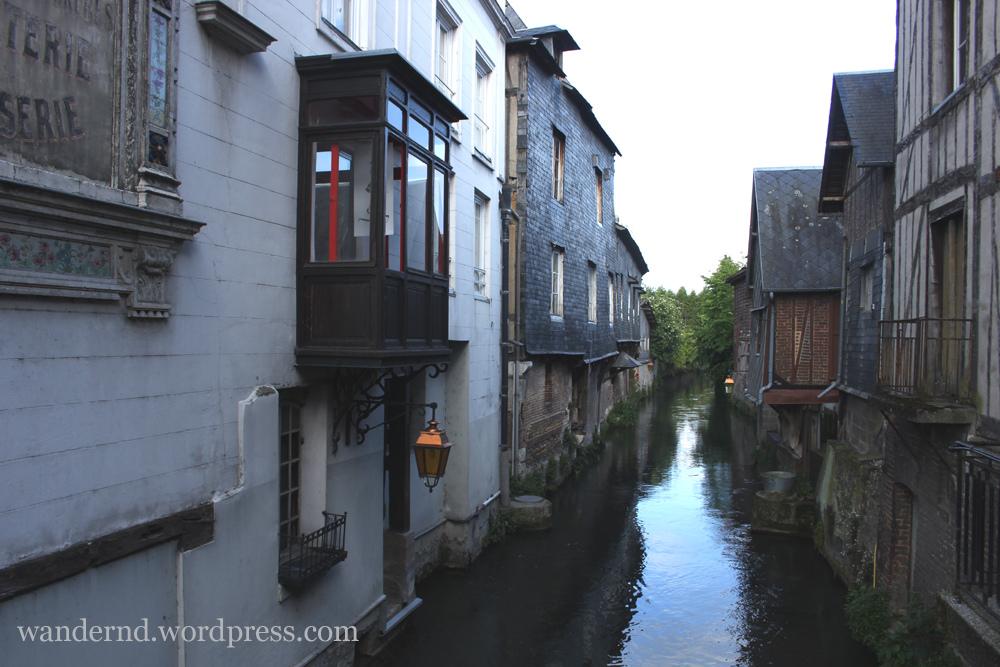 Kanal in Pont-Audemer Normandie