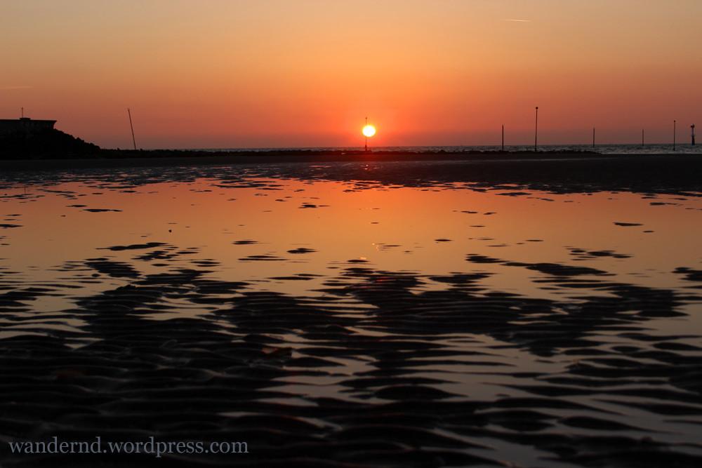 Sonnenuntergang in Deauville