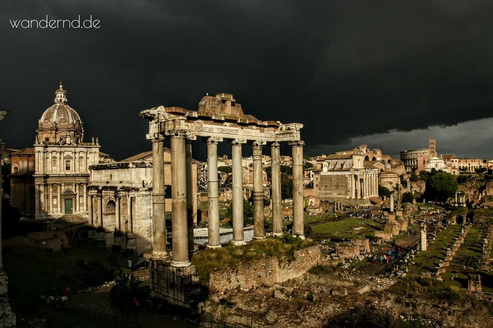 Forum Romanum nach Gewitter