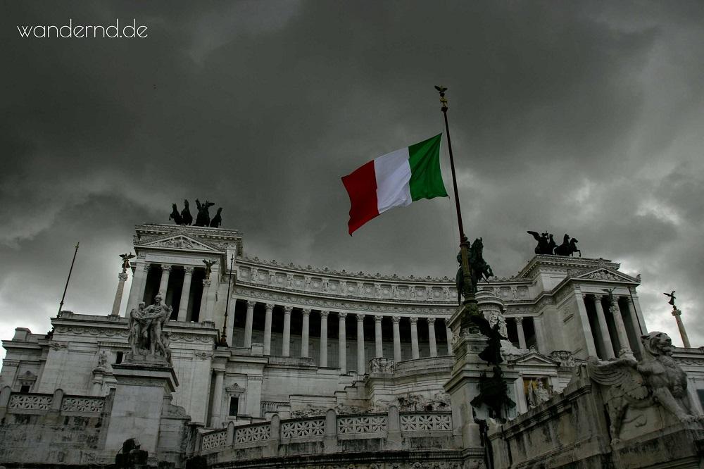 Monumento Vittorio Emanuele: Fotografieren bei Regen