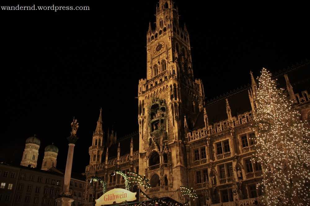 Weihnachtsmarkt am Marienplatz in München