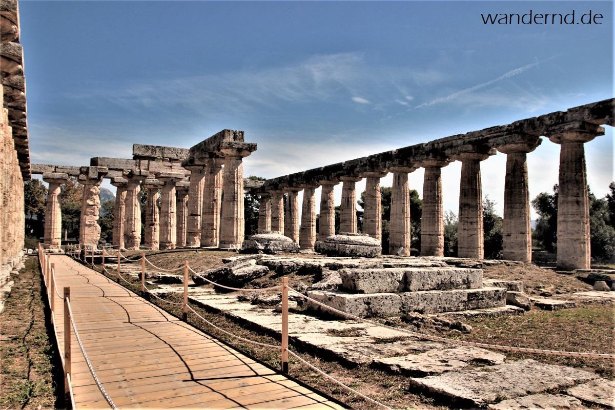 Im Inneren des Hera-Tempels von Paestum