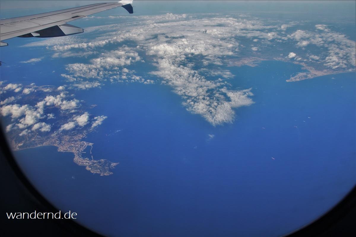 Straße von Gibraltar aus der Luft