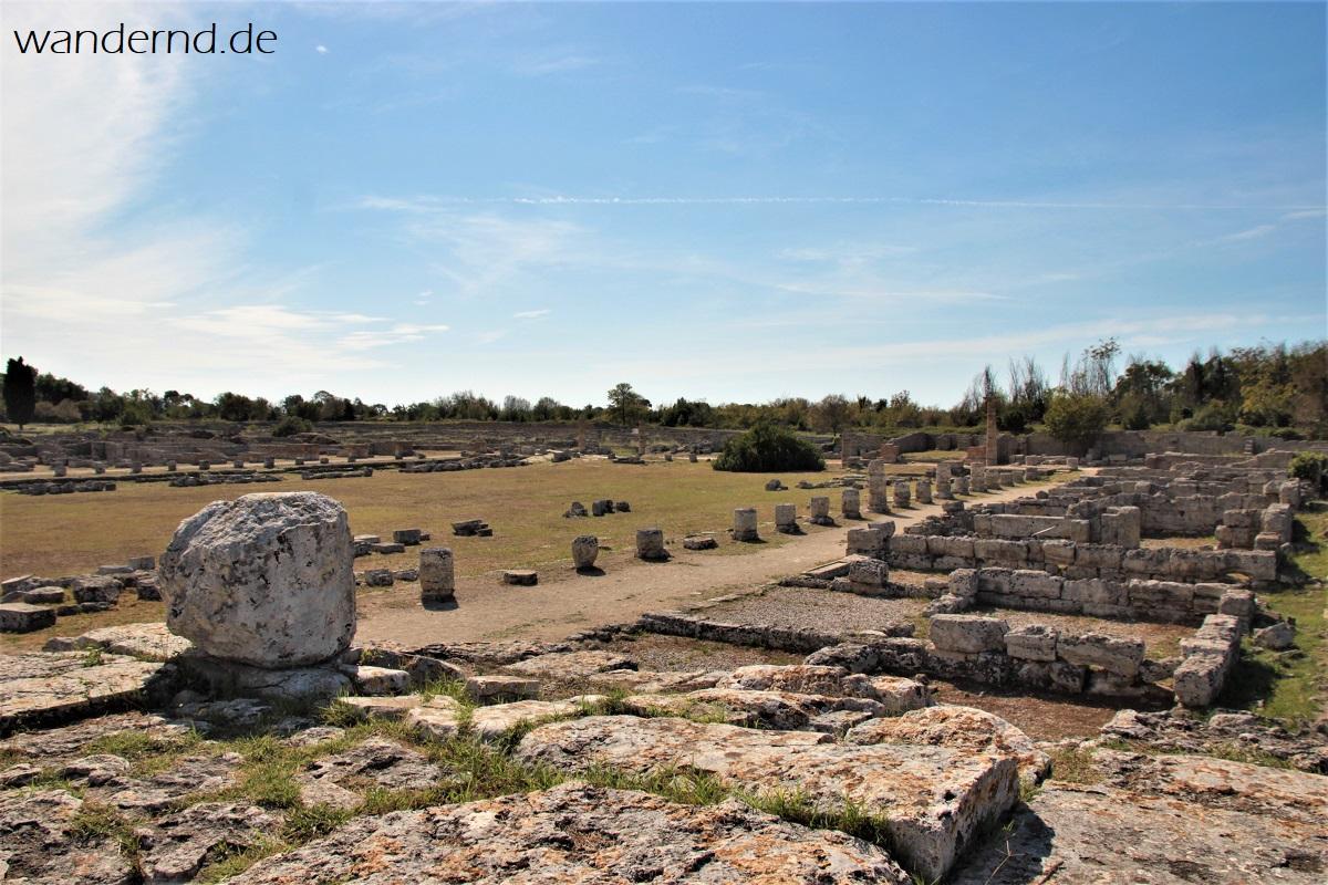 Das römische Forum in Paestum, Italien