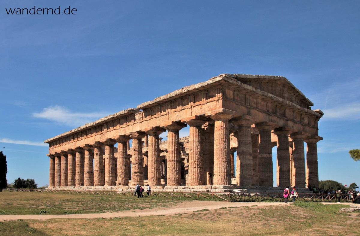 Der Poseidontempel in Paestum ist einer der besterhaltenen dorischen Tempel überhaupt