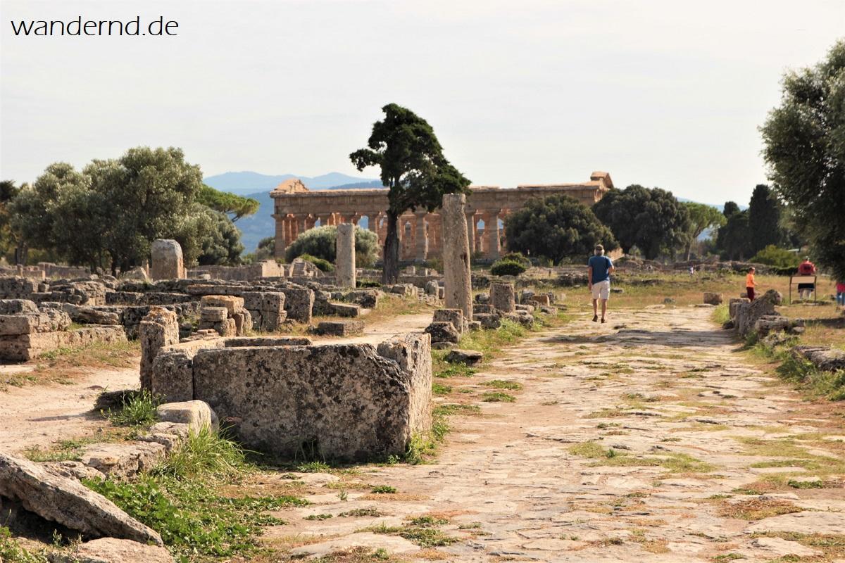 Römische Straße in Paestum