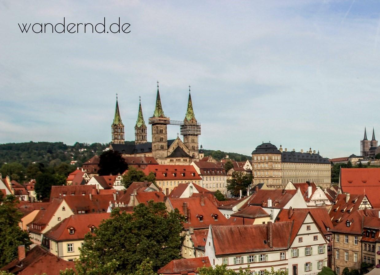 Blick auf die Neue Residenz in Bamberg
