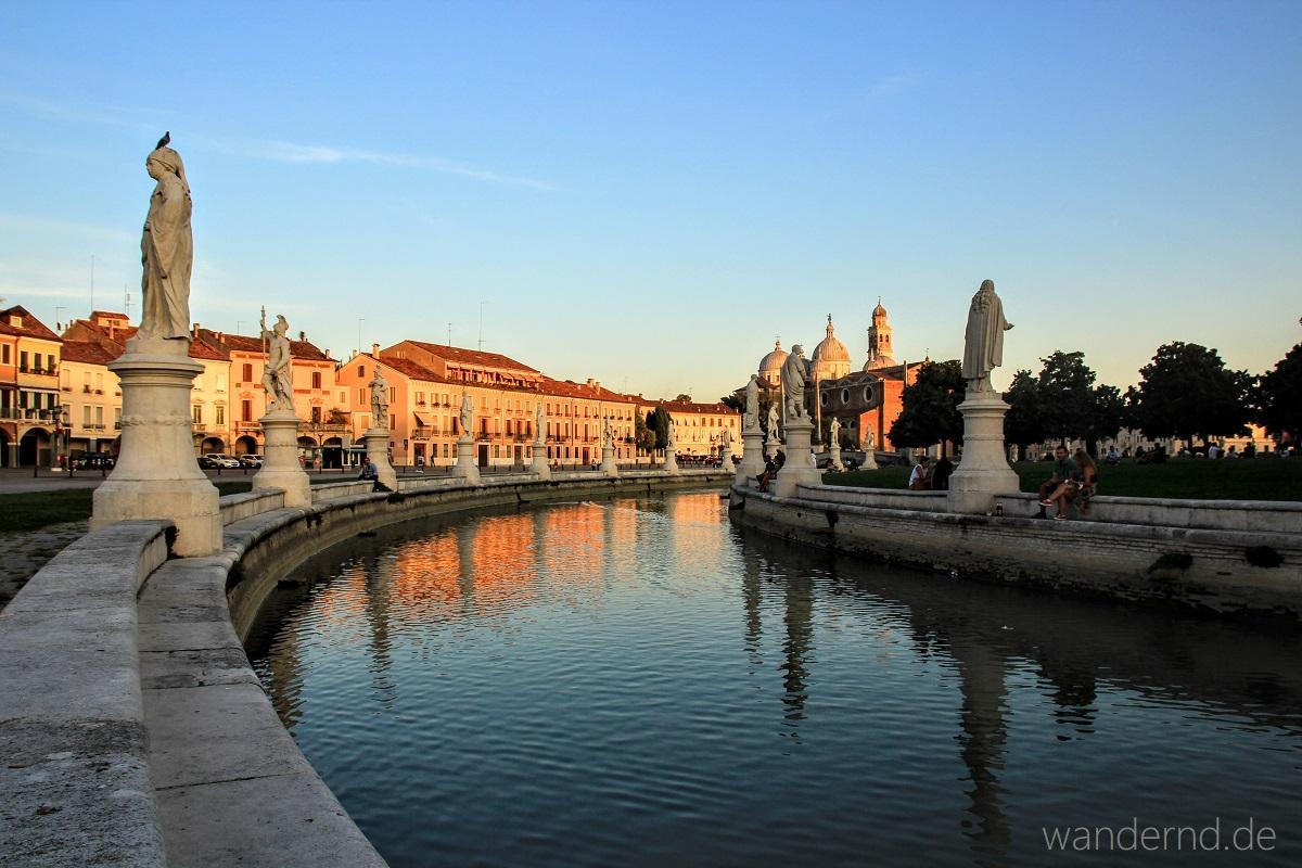 Welche Sehenswürdigkeiten muss man in Padua gesehen haben? Unbedingt den Prato della Valle