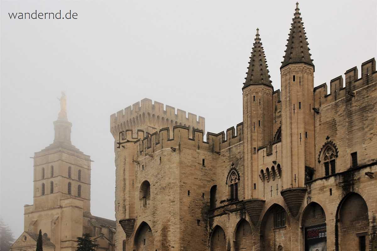 Avignon Papstpalalst und Kathedrale