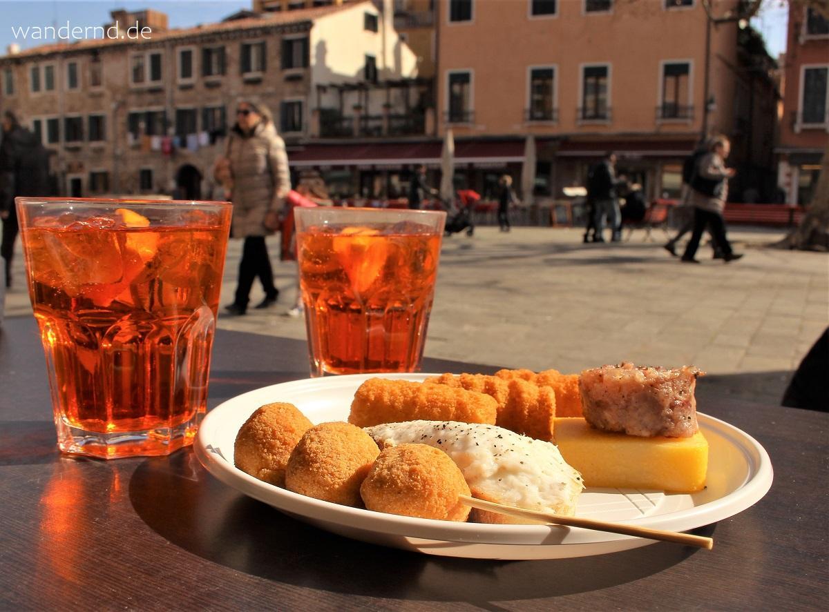Spritz im Bocon DiVino, einem Bacaro in Venedig